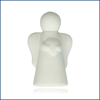 Ceramic Angel white with heart